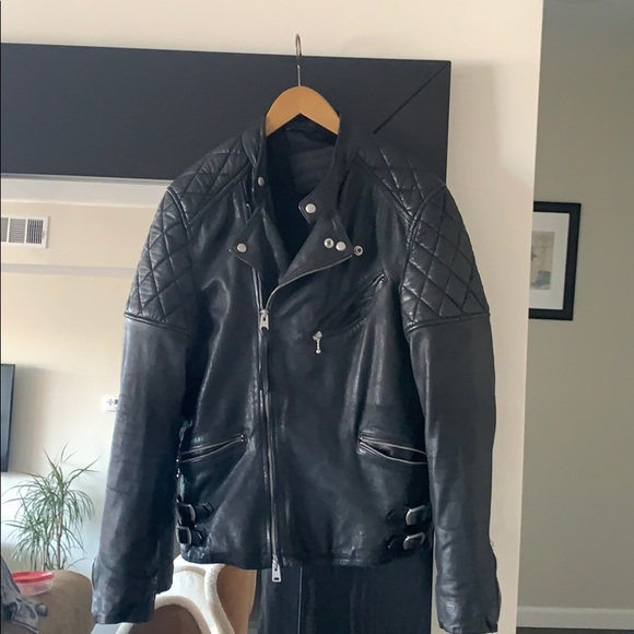 All Saints Other - MENS Black Leather Jacket XS